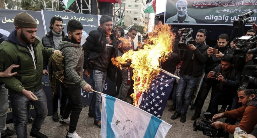 Iraquíes en funeral de general iraní Suleimani