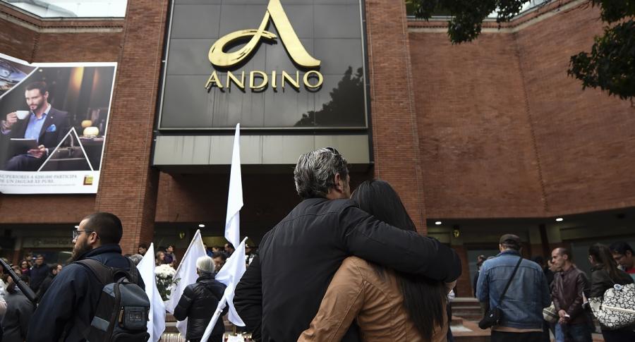 Centro comercial Andino tras el atentado de 2017.