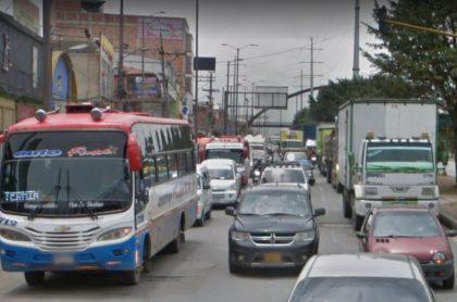 Trancón entre Soacha y Bogotá.