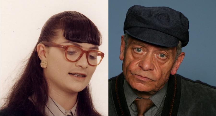 Ana María Orozco y su padre Luis Fernando Orozco, actores.