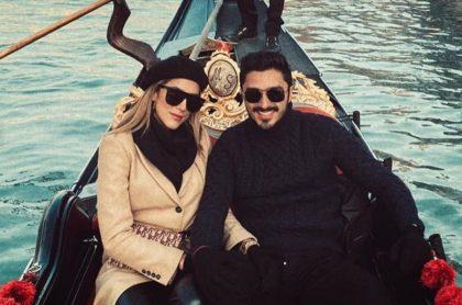 Daniela Ospina, modelo, y su novio Harold Jiménez, productor.
