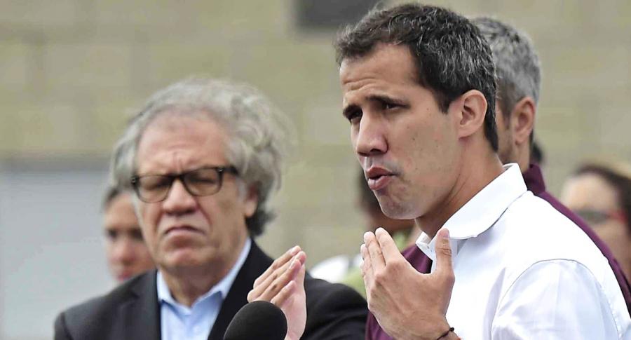 Luis Almagro, secretario de la OEA, y Juan Guaidó, presidente interino de Venezuela