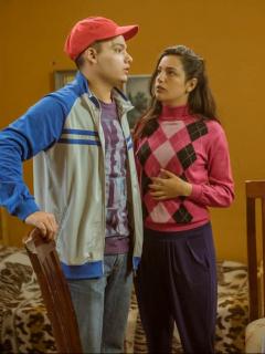Daniel Rengifo, Laura Torrez y Natalia Giraldo, actores.