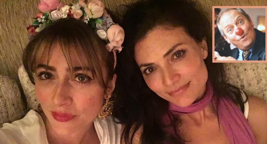 Verónica y Ana María Orozco, actrices, y su papá Luis Fernando Orozco, actor.