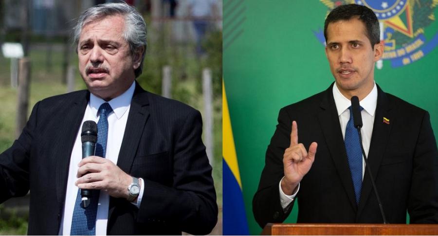 Alberto Fernández y Juan Guaidó