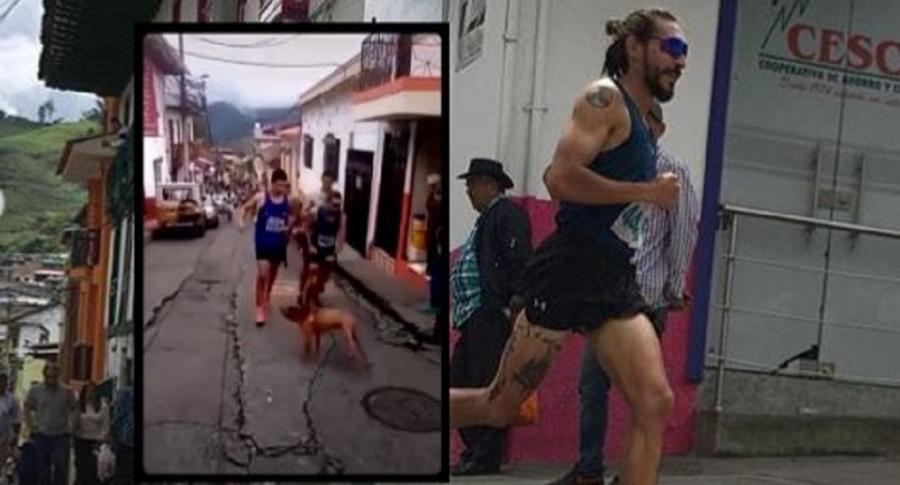 Deportista que pateó a perro