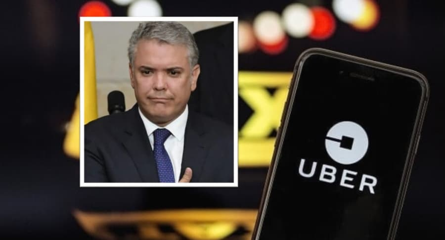 Iván Duque y Uber.