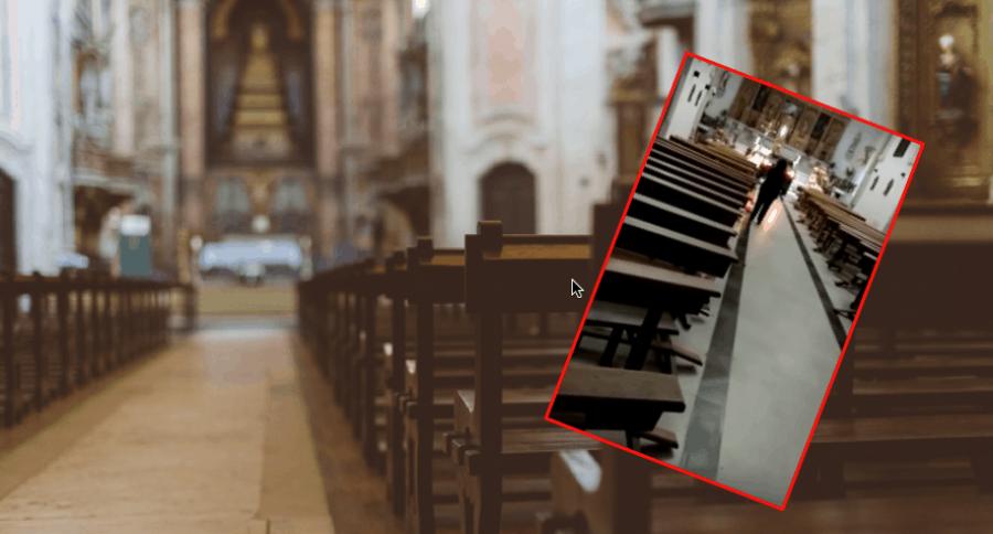 Irrumpe en iglesia con camioneta