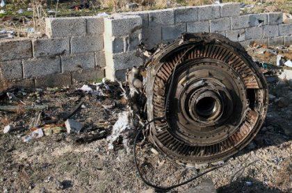Motor de avión ucraniano siniestrado en Irán