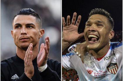 Cristiano Ronaldo y Teófilo Gutiérrez
