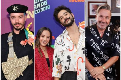 J Balvin, Evaluna, Camilo y Ricardo Montaner