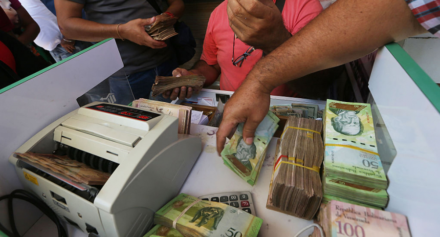 Billetes venezolanos.