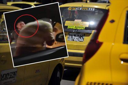 Agresión de taxista a conductor de carro particular