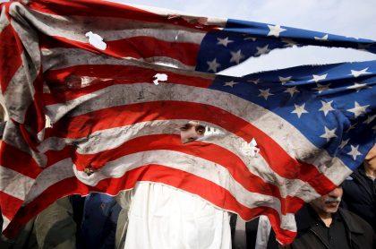 Bandera quemada de EEUU