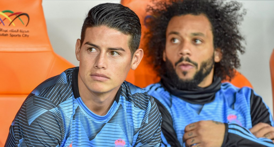 James Rodroguez y Marcelo Vieira