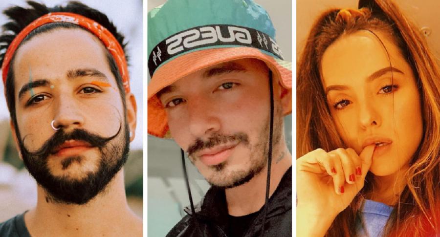 Collage: Camilo Echeverry, J Balvin y Evaluna Montaner