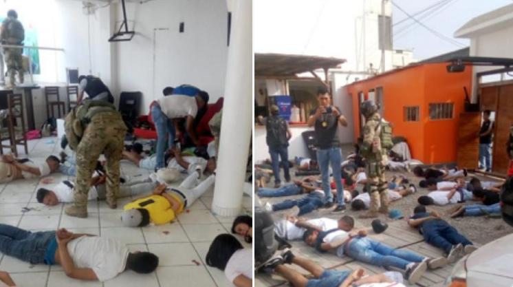 Momento del operativo contra 'Los venecos', en Perú