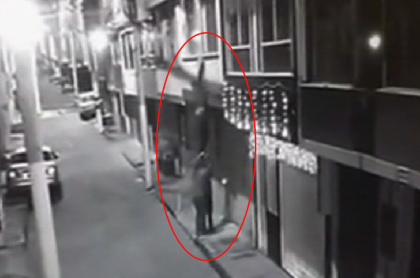 Ladrones 'escalera humana'