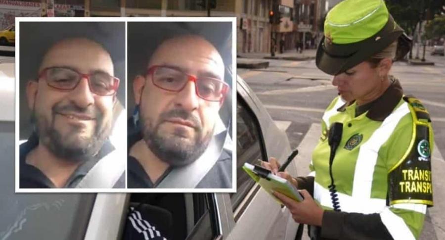 Fredy Contreras, autoproclamado líder taxista.