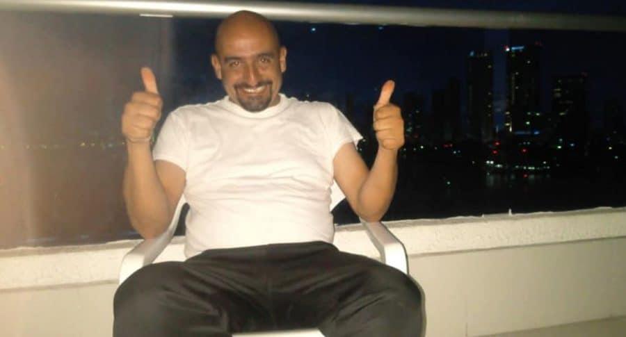 Taxista Fredy Contreras