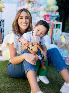 Carolina Soto y su hijo Valentino