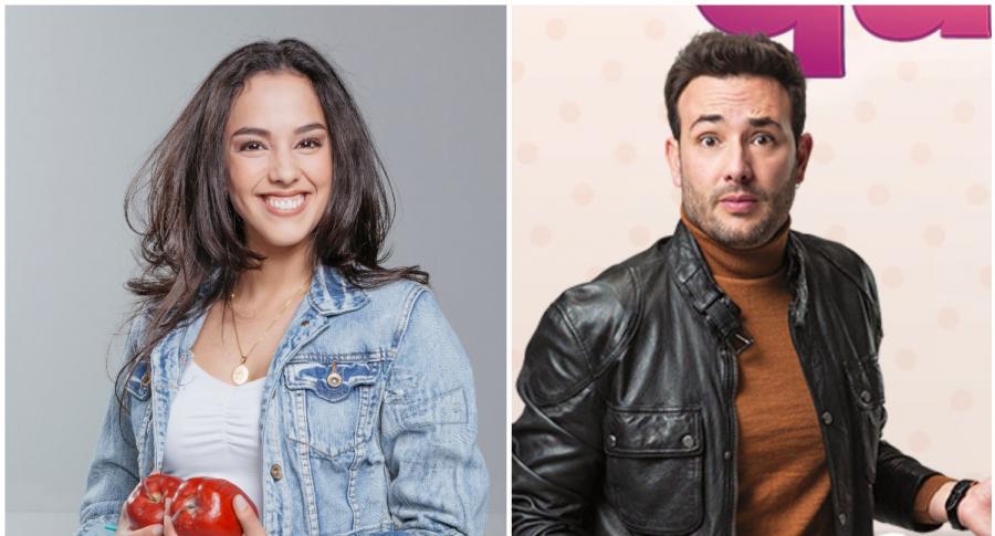 Ana María Estupiñán, de 'Amar y vivir', y Sebastián Martínez, de 'Pa' quererte'