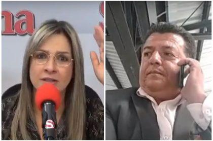 Vicky Dávila y Hugo Ospina