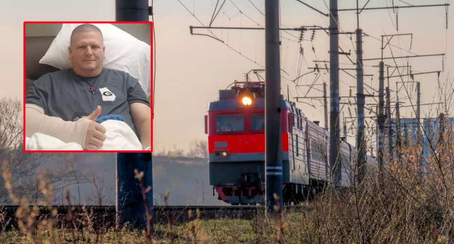 Hombre atropellado por tren.