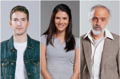Carlos Torres, Valeria Galviz y Julio Sánchez Cóccaro