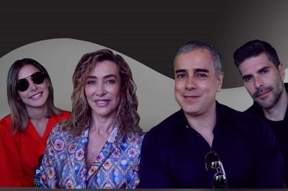Marianne Schaller, Marcela Carvajal, Jorge Enrique Abello y Juan Pablo Llano
