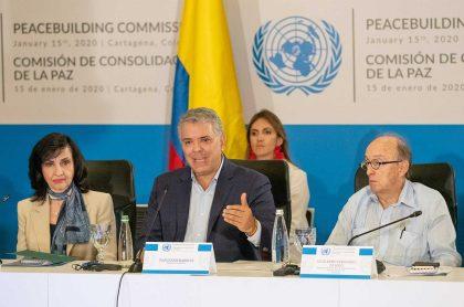 Claudia Blum, Iván Duque, Guillermo Fernández de Soto