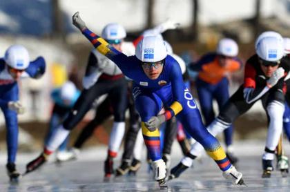Diego Amaya, patinador sobre hielo colombiano