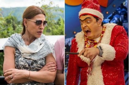 Amparo Grisales, jurado de 'Yo me llamo', y Suso, humorista.