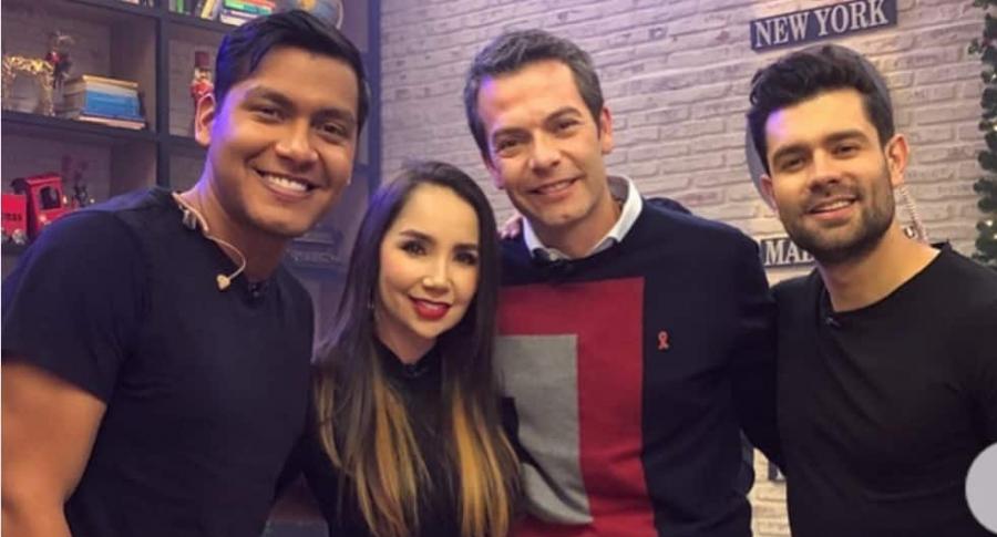 'Juanda Caribe', humorista; Paola Jara, cantante; Iván Lalinde, presentador; y Juan Diego Vanegas, chef.