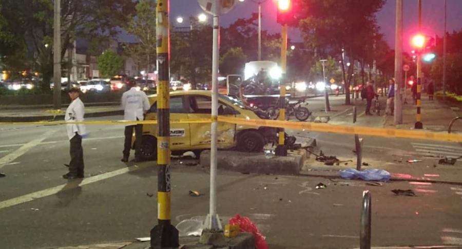 Accidente de taxista borracho en Bogotá