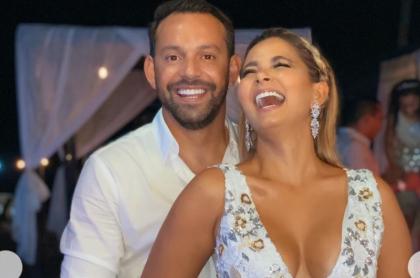 Melissa Martínez, presentadora, con su esposo Matía Mier, futbolista.
