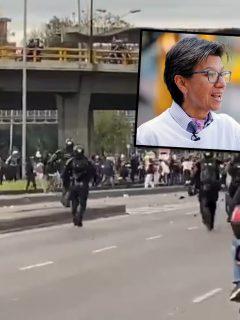 Pese a plan pasivo de Claudia López, Esmad entró con toda su fuerza a la U. Nacional