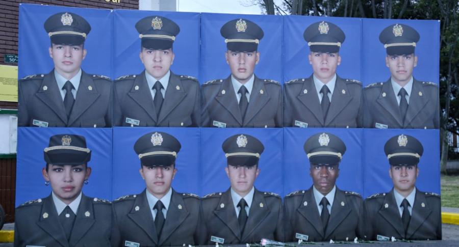 Cadetes asesinados en atentado a la Escuela de Policía General Santander