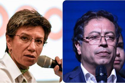 Claudia López y Gustavo Petro
