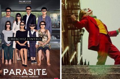 Afiches de las películas 'Parasite' y 'Joker'