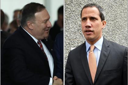 Mike Pompeo y Juan Guaidó