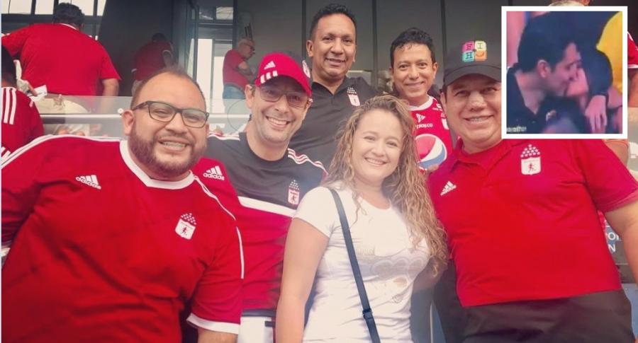 Leonardo Vargas, 'Fatman', con sus colegas humoristas 'el Mono' Sánchez', 'Piroberta' y 'Triki trake', y otros allegados.
