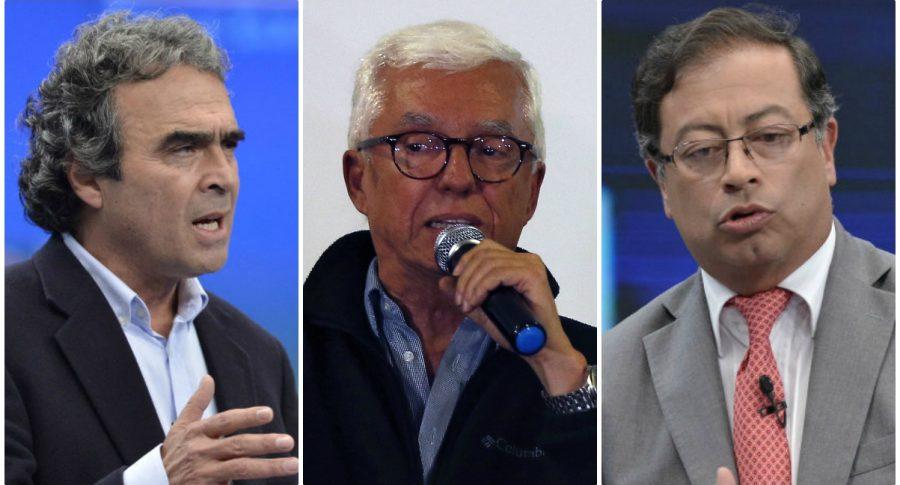 Sergio Fajardo, Jorge Robledo y Gustavo Petro