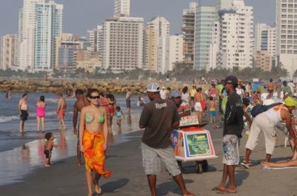 Playa en Cartagena