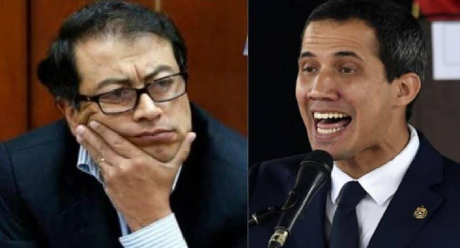Gustavo Petro y Juan Guaidó