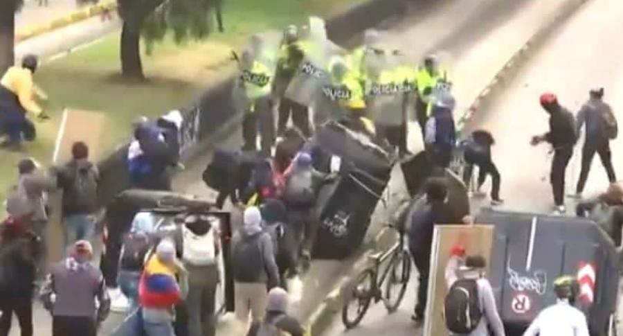 Captura de video de ataque a policías
