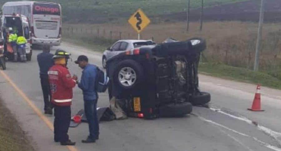 Accidente vía Tunja-Bogotá