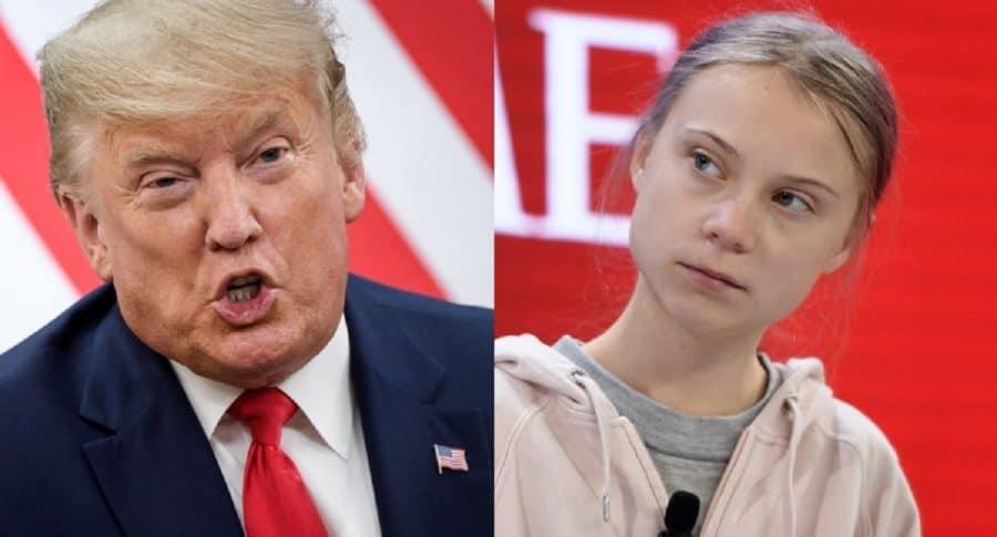 Donald Trump y Greta Thunberg