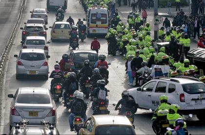 Imagen de protestas en Bogotá