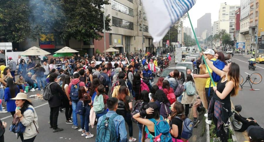 Paro Nacional sobre la Séptima en Bogotá